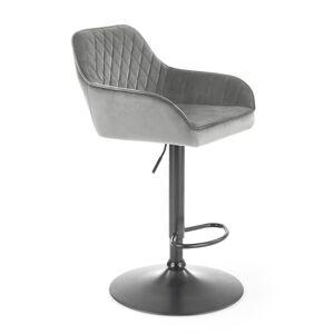 HALMAR H-103 barová stolička sivá / čierna