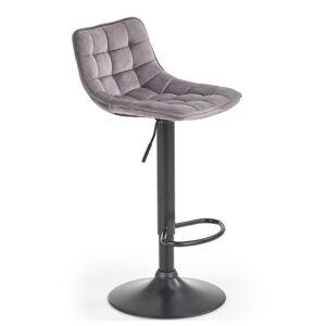 HALMAR H-95 barová stolička sivá / čierna