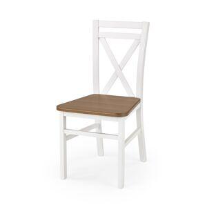 HALMAR Dariusz 2 jedálenská stolička biela / jelša