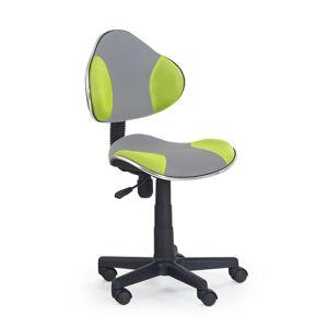 HALMAR Flash 2 detská stolička na kolieskach sivá / zelená