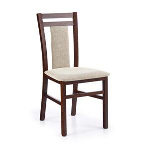 HALMAR Hubert 8 jedálenská stolička tmavý orech / béžová
