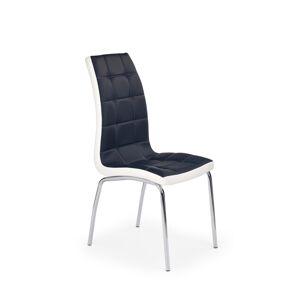 HALMAR K186 jedálenská stolička čierna / biela