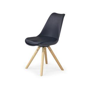 HALMAR K201 jedálenská stolička čierna / buk