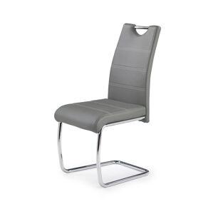 HALMAR K211 jedálenská stolička sivá / chróm