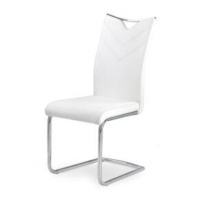 HALMAR K224 jedálenská stolička biela / chróm