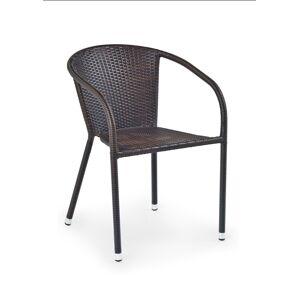 HALMAR Midas záhradná stolička tmavohnedá