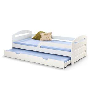 HALMAR Natalie 2 90 rozkladacia posteľ s prístelkou biely lesk