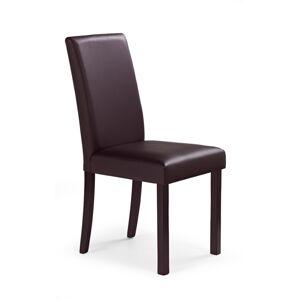 HALMAR Nikko jedálenská stolička tmavý orech / tmavohnedá