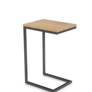 HALMAR Nisa konferenčný stolík dub zlatý / čierna