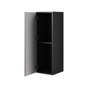 CAMA MEBLE Roco RO3 skrinka na stenu čierna / biela