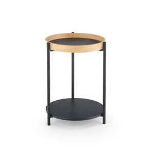 HALMAR Rolo okrúhly konferenčný stolík prírodný dub / čierna