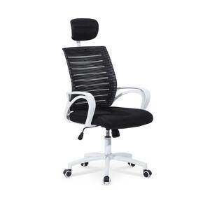HALMAR Socket kancelárska stolička s podrúčkami čierna / biela