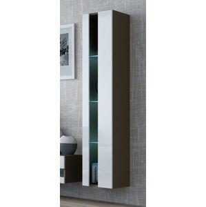 CAMA MEBLE Vigo New 180 vitrína na stenu latte / biely lesk