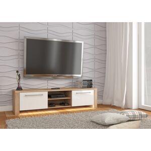 MEBLOCROSS Helix New tv stolík sonoma svetlá / biely lesk