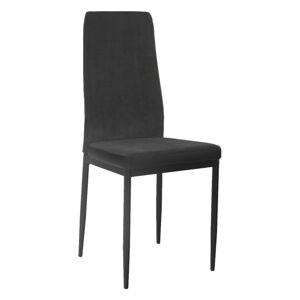 TEMPO KONDELA Enra jedálenská stolička tmavosivá / čierna