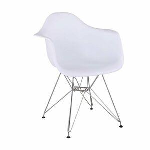 TEMPO KONDELA Feman 3 New jedálenská stolička biela / chróm