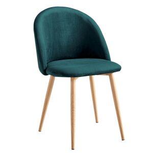 TEMPO KONDELA Fluffy jedálenská stolička smaragdová