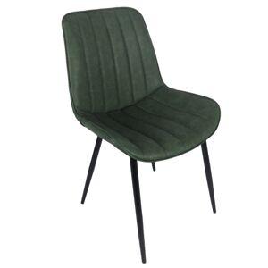 TEMPO KONDELA Hazal jedálenská stolička zelená / čierna
