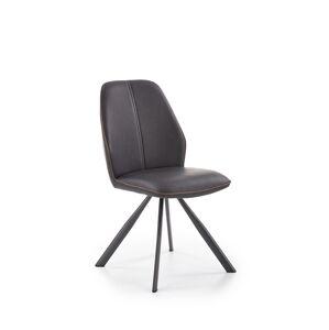 HALMAR K319 jedálenská stolička hnedá / čierna