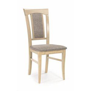 HALMAR Konrad jedálenská stolička dub sonoma / hnedá