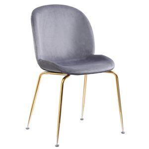 TEMPO KONDELA Portia jedálenská stolička sivohnedá (taupe) / zlatá