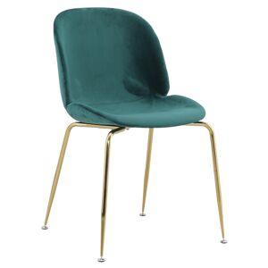 TEMPO KONDELA Portia jedálenská stolička zelená / zlatá