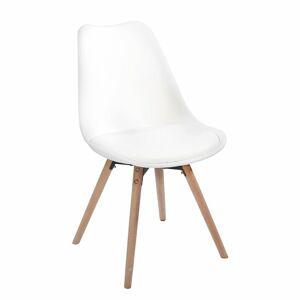 TEMPO KONDELA Semer New jedálenská stolička biela / buk
