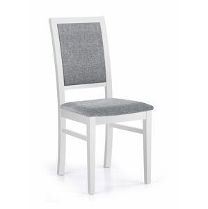 HALMAR Sylwek 1 jedálenská stolička biela / sivá