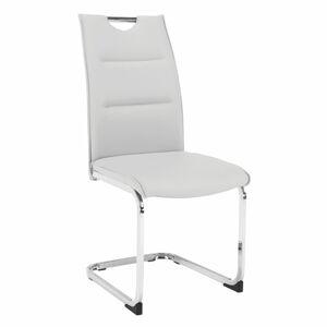 TEMPO KONDELA Tosena jedálenská stolička svetlosivá