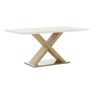 TEMPO KONDELA Farnel jedálenský stôl dub sonoma / biely lesk