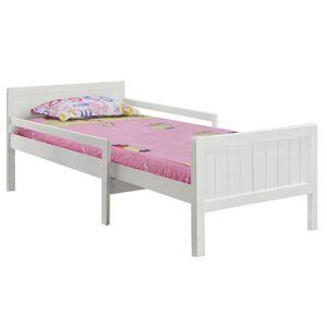 TEMPO KONDELA Eunika jednolôžková posteľ s nastaviteľnou dĺžkou biela
