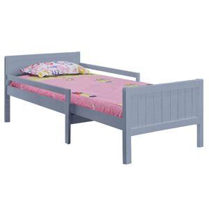 TEMPO KONDELA Eunika jednolôžková posteľ s nastaviteľnou dĺžkou sivá