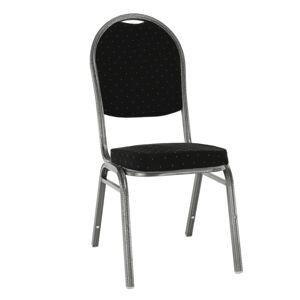 KONDELA Jeff 3 New konferenčná stolička čierna / sivá