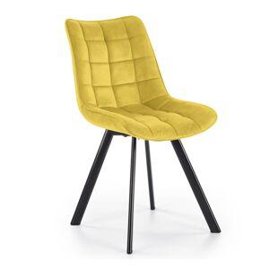 HALMAR K332 jedálenská stolička horčicová / čierna