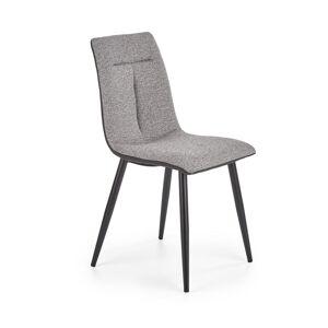 HALMAR K374 jedálenská stolička sivá / čierna