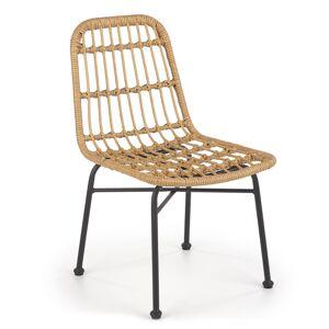 HALMAR K401 záhradná stolička prírodná / čierna