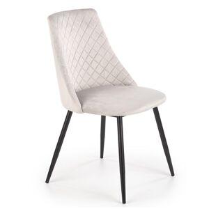 HALMAR K405 jedálenská stolička svetlosivá / čierna