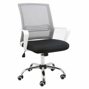 TEMPO KONDELA Apolo kancelárska stolička s podrúčkami sivá / čierna / biela