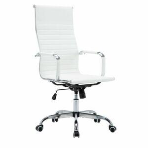 TEMPO KONDELA Azure 2 New kancelárske kreslo s podrúčkami biela / chróm