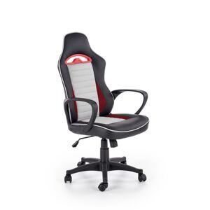 HALMAR Bering kancelárske kreslo s podrúčkami čierna / sivá / červená