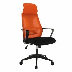 TEMPO KONDELA Taxis kancelárske kreslo čierna / oranžová
