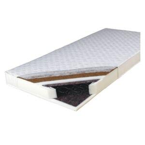 TEMPO KONDELA Kokos Medium obojstranný pružinový matrac 80x195 cm pružiny / plsť / PUR / latex-kokos doska / látka