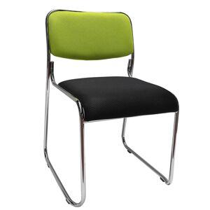 TEMPO KONDELA Bulut konferenčná stolička zelená / čierna