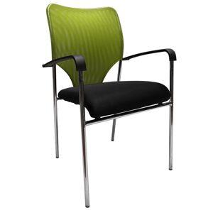 TEMPO KONDELA Umut konferenčná stolička zelená / čierna