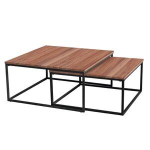 TEMPO KONDELA Kastler Typ 1 konferenčný stolík (2 ks) čierna / orech