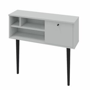 TEMPO KONDELA Demont konzolový stolík svetlosivá / čierna