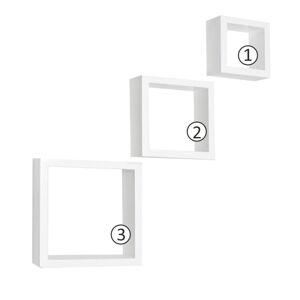 TEMPO KONDELA Kvadro New DR-WS-6103 poličky (3 ks) biela