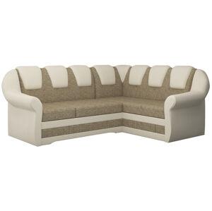 NABBI Latino II P rohová sedačka s rozkladom a úložným priestorom cappuccino / béžová