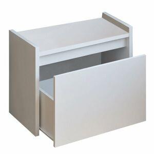 TEMPO KONDELA Bergi lavica do predsiene s úložným priestorom biela
