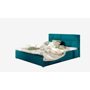 NABBI Liza UP 160 čalúnená manželská posteľ s roštom tyrkysová